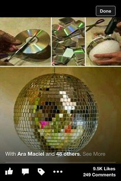 Diy your own disco ball with CDs