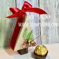 Here is Day 1 of my 12 Days of Gift Giving. It's my Triangle Tree Treat Box using Fun Stampers Journey product. It holds some special treats for a special friend. So easy to make. Here is the video https://youtu.be/a6J23szmWCA and there is a free PDF on my blog www.stampladee.com