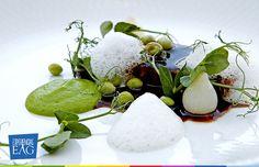 Ostras con mermelada vinagre, aceite ahumado y granita de Brandy - Herman Restaurant, Cocina Molecular.