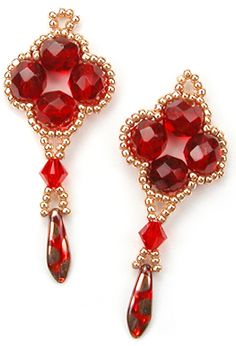 Craft edu , beaded earrings