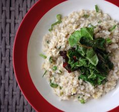 Lemongrass risotto with chard - weird, but good! The kitchen smelled divine.