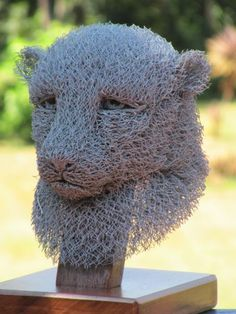 Chicken wire Wild Animals and Wild Life sculpture by artist Ivan Lovatt titled: 'Cheetah' £947 #sculpture #art