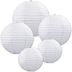 Beistle 54557-W White Paper Lantern Assortment, Assorted Sizes, 5 Paper Lanterns In Package: Amazon.co.uk: Kitchen & Home