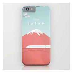 Vintage Japan Travel Poster iPhone 6s Case ($35) ❤ liked on Polyvore featuring accessories, tech accessories and iphone & ipod cases