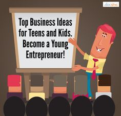 Become a Young Entrepreneur: Top Business Ideas for Teens and Kids #EntrepreneurMind #EntrepreneurIdeas