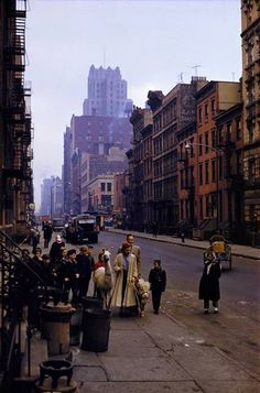 New York City, 1957. This begs the question: is she walking a Llama? And if so, why? And what else is she walking?