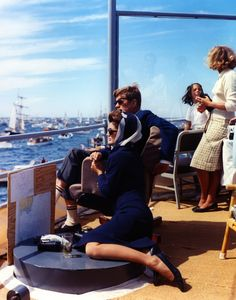JFK and Jackie Kennedy at the America's Cup, 1962