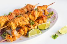 The word Tikka means bits, pieces or chunks and chicken tikka is an easy-to-cook dish in which chicken chunks are marinated in spices and grilled on skewers. Grilled Chicken Tikka Recipe, Marinated Grilled Chicken, Cheap Wedding Food, Wedding Food Menu, Wedding Ideas, Indian Food Recipes, Whole Food Recipes, Healthy Recipes, Tandoori Recipes