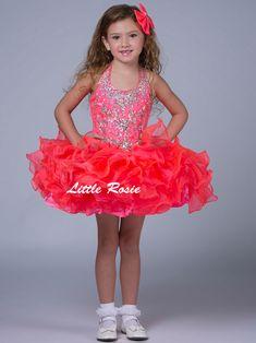 Little Rosie Pageant Halter Pageant Dress SR311|PageantDesigns.com