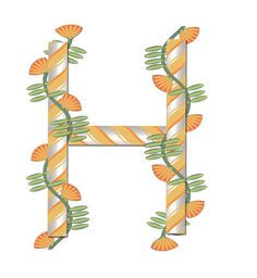 Typography - Spring Alphabet - Letter H