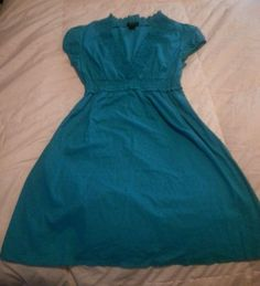 Sam & Max turquoise cotton dress L #SamMax available now on @ebay