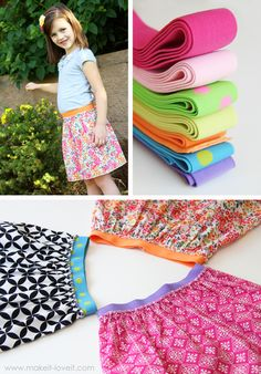 Love this site! She makes sewing projects so do-able. This one is a super cute elastic band girls skirt. May just have to make one of these. Even has a link to where to buy the elastic.