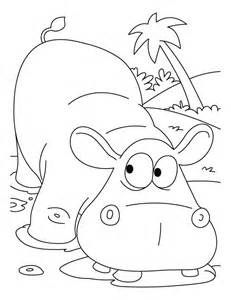 Wild animal coloring page Hippopotamus Coloring page gifties