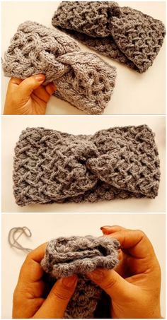 Crochet A Headband For Beginners Crochet Gifts, Easy Crochet, Crochet Baby, Free Crochet, Knit Crochet, Crochet Bunting, Crochet Slippers, Crochet Ear Warmer Pattern, Crochet Headband Pattern