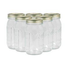Half-Gallon Wells Canning Jars.