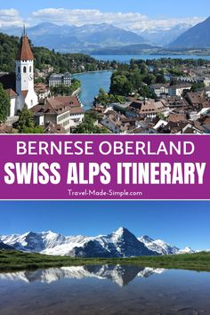 Are you planning a Switzerland itinerary? Check out this Bernese Oberland itinerary that will show you how to spend five days in the Bernese Oberland region of Switzerland. Thun Switzerland, Switzerland Cities, Switzerland Itinerary, Switzerland Vacation, Oh The Places You'll Go, Places To Travel, Places To Visit, Great Days Out, Switzerland