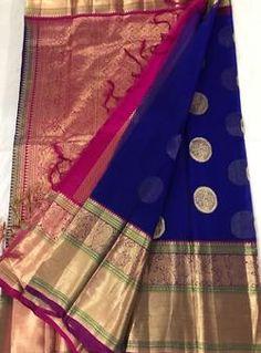 Discover thousands of images about Latest Kanchi Kora Silk Sarees Simple Saree Designs, Kids Blouse Designs, Simple Sarees, Nalli Silks, Kanjivaram Sarees Silk, Kanchipuram Saree, Wedding Silk Saree, Bridal Sarees, Latest Silk Sarees