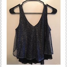 Express Sleeveless Top Light Sleeveless top can go with jeans or skirt and will compliment any occasion Express Tops Tank Tops