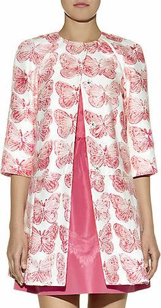 Red Valentino Butterfly Print Cotton-Linen Coat- I love butterflies this coat is perfect!
