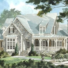 2. Elberton Way, Plan No. 1561  The picturesque appeal of the English-cottage style, which can be found in so many longstanding neighborhoods across the South, gives this design a ready-made presence.  Square footage: 3,469  Size: 3 or 4 bedrooms, 3.5 baths