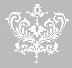 Pochoir Adhésif Repositionnable 17 x 16 cm GRAND ORNEMENT BAROQUE