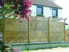 chevron fence panels