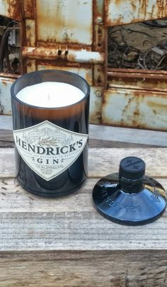 Hendrick's Gin Man Cave Decor Candle