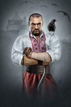 9ce02007cf05016e7f068fa9b58cf811.jpg (600×900)  ukrainian shaman man crow raven