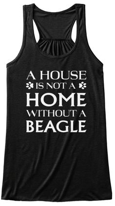 Funny Beagle T Shirt   Limited Edition Black Women's Tank Top Front