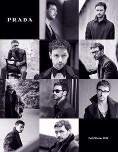 James McAvoy for Prada