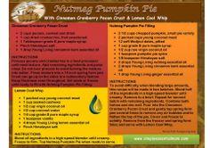 Young Living Essential Oils: Nutmeg Pumpkin Pie Recipe www.fb.com/essentialliving180