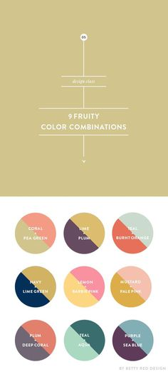9 Fruity Color Combinations for design projects Betty Red Design Colour Pallete, Colour Schemes, Color Patterns, Color Palettes, Retro Color Palette, Color Schemes For Websites, Graphic Design Inspiration, Color Inspiration, Graphic Design Projects