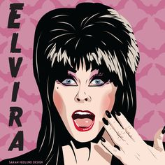 "Day 29: Elvira from Mistress of the Dark (1988), I wanted to grow up to be just like her! I didn't ""grow"" into the role but I like to think I got some of my sass from this lovely lady. ‪#‎elvira‬ ‪#‎elvirafanart‬ ‪#‎halloween‬ ‪#‎witch‬"