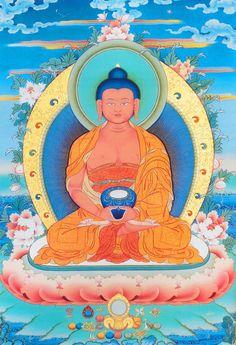 Tibetan Art, Tibetan Buddhism, Buddha Buddhism, Amitabha Buddha, Gautama Buddha, Buddha Canvas, Buddha Art, Buddhism Symbols, Sacred Art