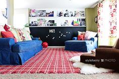 our loft playroom (DIY magnetic chalkboard wall + gallery ledges)