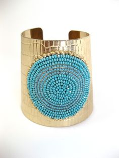 Etsy Cuff..love turquoise and.brass..or gold..