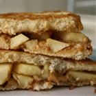 Grilled peanut butter and apple sandwich