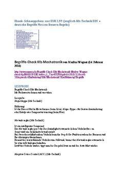ebook guenstig billig EUR 2,99 Sonderangebot Leseprobe englisch Uebersetzung Kfz Automobil Informations-Technik Begriffe Steuern Regeln