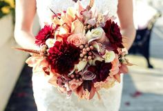 Beautiful pink, cream, and magenta bouquet.