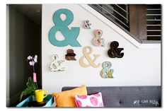 Ampersand wall home decor from MichaelsMakers  Sugarbee Crafts