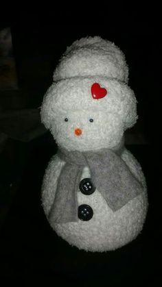 Sneeuwpop van sok met rijst