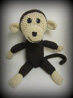Crochet Monkey! Check out crochetmonkey.webs.com Crochet Monkey, Raven, Diys, Teddy Bear, Crafty, My Love, Check, Animals, Crow