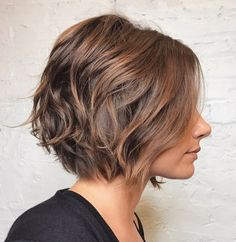 Wavy Chocolate Brown Bob
