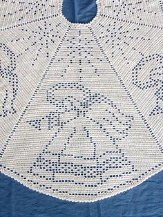 Angel Filet Crochet Tree Skirt Filet Crochet