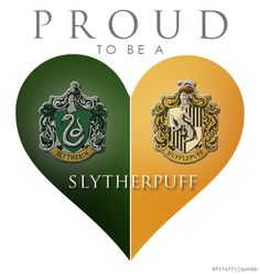 I have A LOT OF HUFFLEPUFF pins, so please check out my Geek - I am Hufflepuff {Harry Potter} board. PROUD TO BE A SLYTHERPUFF | hpstuffs.tumblr