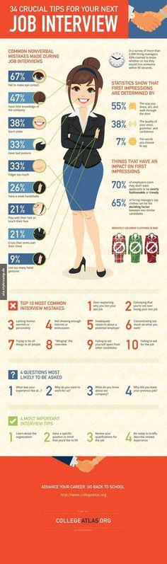 34 wichtige Tipps für dein nächstes Bewerbungsgespräch!