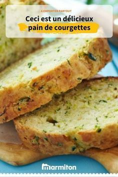 Zucchini bread, a salty cake recipe to take everywhere Source Fun Easy Recipes, Healthy Dinner Recipes, Breakfast Recipes, Casserole Recipes, Cake Recipes, Crockpot Recipes, Easy Vegetarian Lunch, Vegetarian Recipes, Italian Soup Recipes