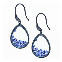 Robyn Stardust Shaker Drop Earrings - Lilac CZ