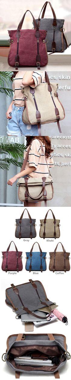 US$22.67  Women Canvas Vintage Handbag Retro Shoulder Bag Schoolbag