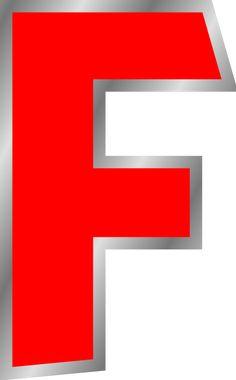 F | Letter F clip art - vector clip art online, royalty free & public ...